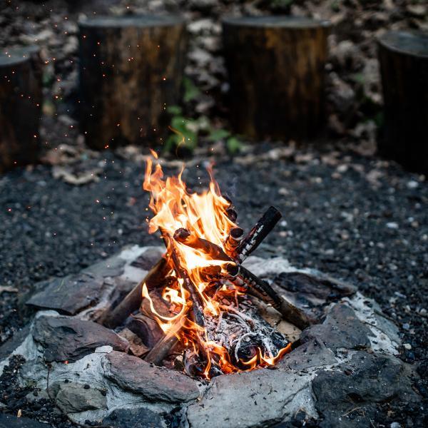 Un feu de camp